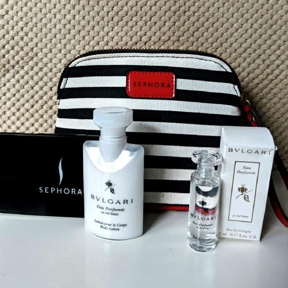 Bulgari Makeup   Bvlgari Edc Lotion Sephora Bag Mirror   Poshmark e727b6ee9df